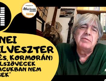 Jenei Szilveszter (ILLÉS, KORMORÁN): A dalszövegek önmagukban nem versek